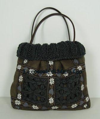 Le coccole di Maria Gio: Borsa in lanacotta con inserti a telaio