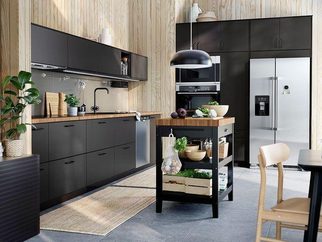 Cuisine Ikea Les Plus Beaux Modeles Du Geant Suedois Elle Decoration En 2020 Petite Cuisine Moderne Cuisine Ikea Et Ikea