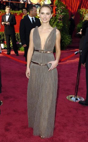 Pin for Later: Over 60 of Natalie Portman's Best Red Carpet Looks Ever Natalie Portman in Lanvin at the 2005 Oscars One of our favorite looks — Natalie channels a modern goddess style in Lanvin at the '05 Oscars.