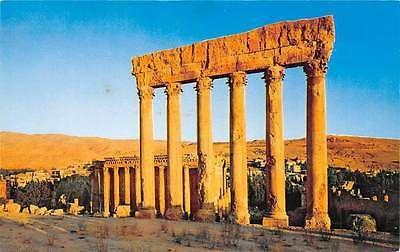 #Lebanon #Postcards  Lebanon Ancient Roman Ruins of Temple of Jupiter Baalbek Beirut, Pan American #Lebanon #Postcards
