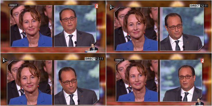 Moment gênant : Hollande rappelle la défaite de Royal en 2007 en pleine conférence de presse, en sa présence !