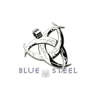 PIN IT TO WIN IT! Silver Knight: This well designed brilliantly finished piece of metal is tribal in nature.  The triple moon create a gives the wearer a personality that glows at night!   $29.00    www.buybluesteel.com