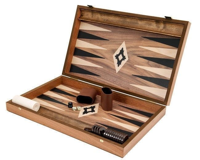 Walnut Effect Backgammon Set - Manopoulos FREE SHIPPING!! #Manopoulos