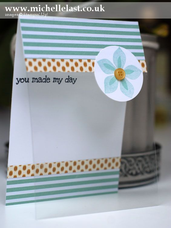 Acetate Card using Flower Patch from Stampin' Up! - Stampin' Up! Demonstrator Michelle Last
