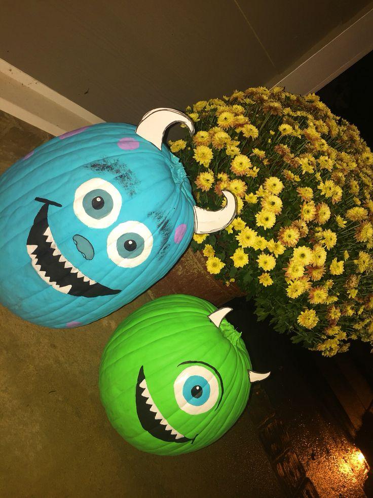 monsters inc. painted pumpkins @charlihulse   halloween ...