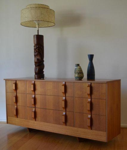 Retro Mid Century Danish Modern Teak Nine Drawer Dresser / Sideboard By  Burgess In Dressers U0026