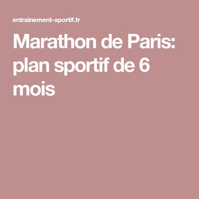 Marathon de Paris: plan sportif de 6 mois