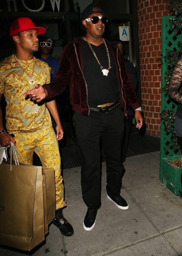 Master P and Romeo Miller Dine with Family Wearing Versace | UpscaleHype