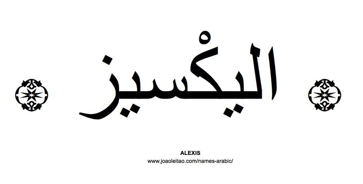 Your Name in Arabic: Alexis name in Arabic