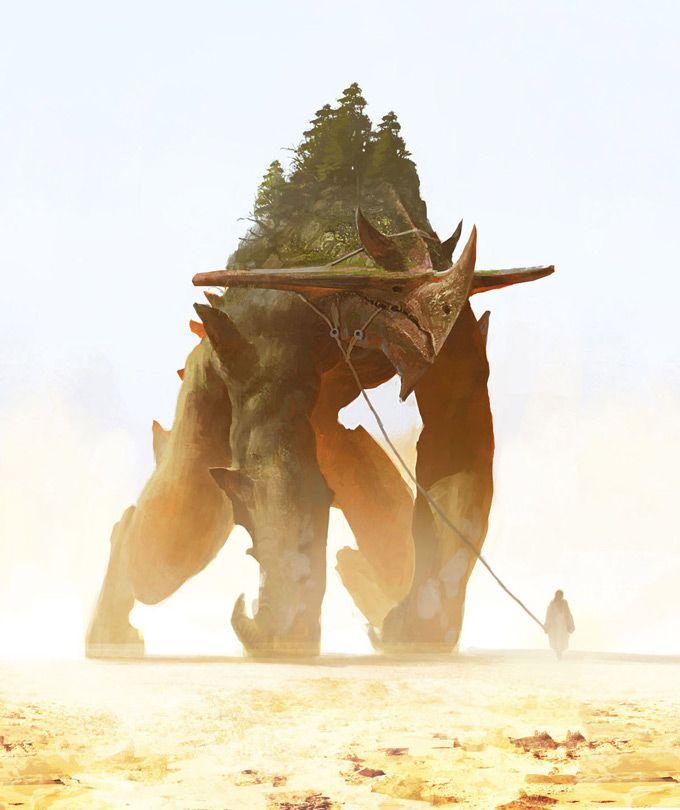 fantasy concept art creature monster giant golem