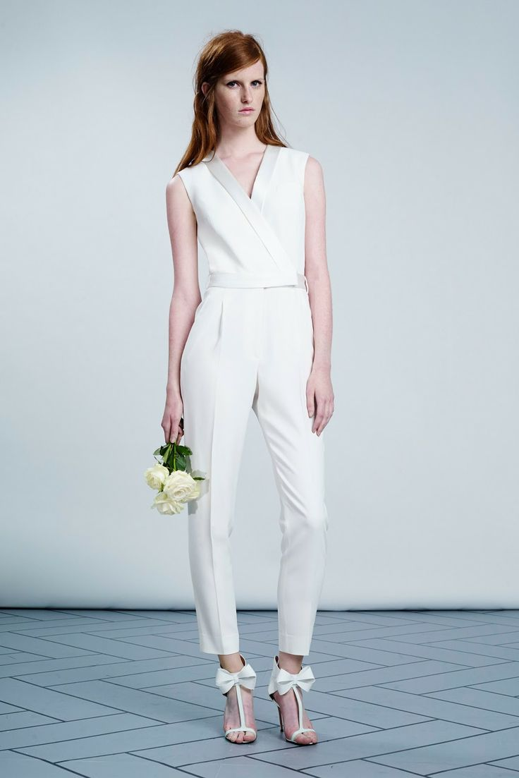 viktor & rolf bridal collection SS14 // white jumpsuit