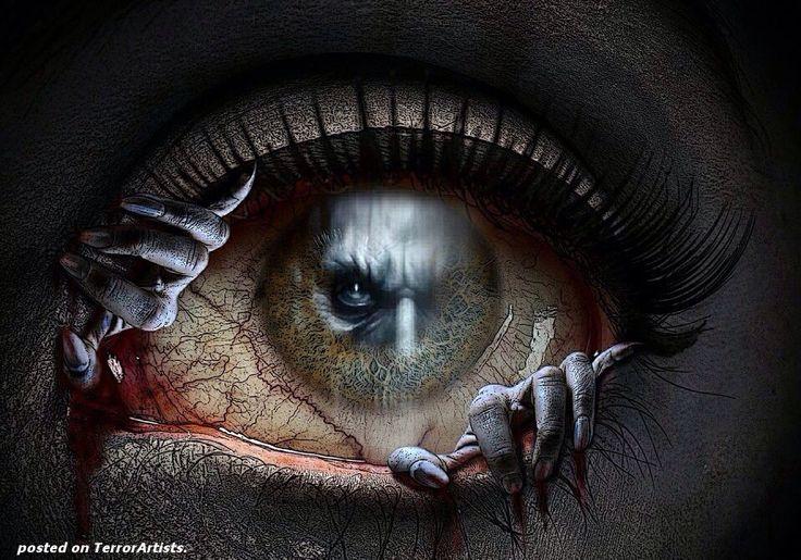 Scary Eyeball | Eye Art | Eyes, Creepy eyes, Eye art
