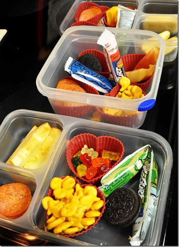 lunches already made in the frig for summer-grab them before running errands so you don't have to stop at a drive thru.