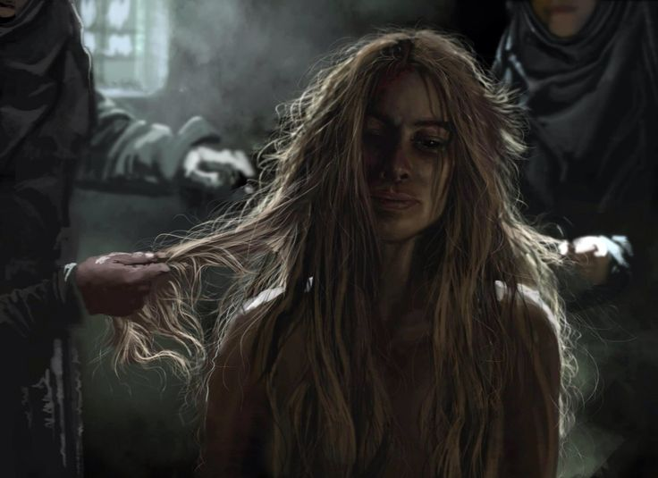 Before the walk of shame Cersei Lannister Game of thrones
