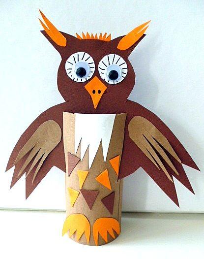 DIY CRAFT ** Toilet paper rolls  Owl