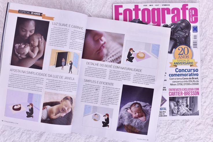 Estou muito feliz em colaborar na Ed de Aniversario da Revista Fotografe Melhor com tecnicas de luz na fotografia newborn. A edicao Especial de 20 anos está nas bancas este mês de Setembro/2016!! Confira!!