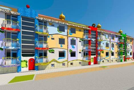Ze houden er bij Woningstichting Den Helder al een beetje rekening mee: hier gaat bijna iedereen in Den Helder wel iets van vinden. En spraakmakend mag je het idee voor de metamorfose van een van de drie flats aan de Waddenzeestraat met recht noemen. Wat nu nog een saai rechttoe-rechtaan-gebouw uit de jaren 50 is, krijgt straks landelijke aandacht als de metamorfose naar de ideeën van de beroemde kunstenaar en architect Friedensreich Hundertwasser is voltooid.