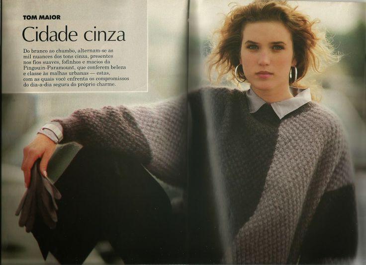 Mania-de-Tricotar: Belo pulôver feminino!!  http://mania-de-tricotar.blogspot.com.br/