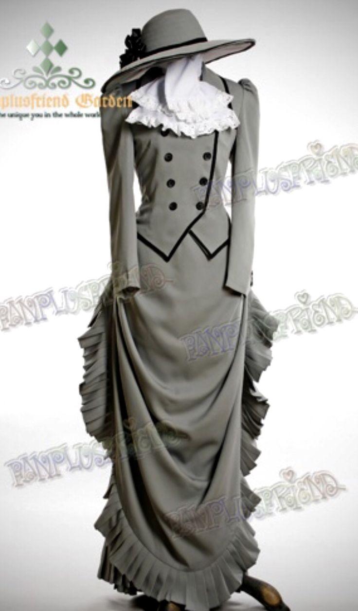 Grey Victorian Dress Suit reproduction