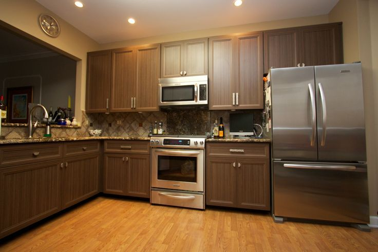 chocolate brown kitchen kitchen pinterest from Cost To Resurface Kitchen Cabinets