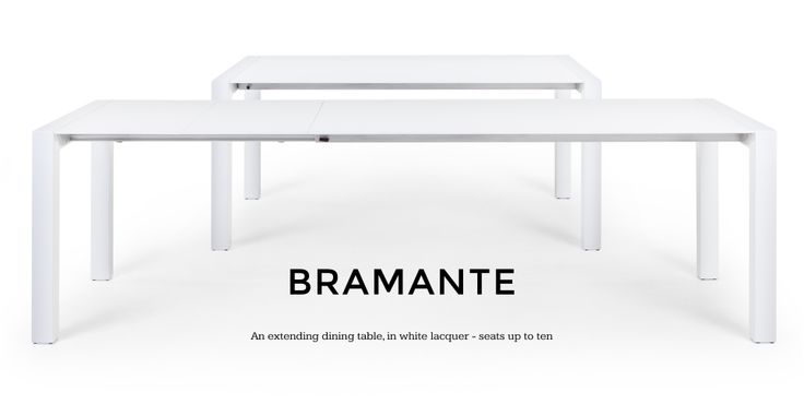 Bramante Extending Dining Table in white   made.com