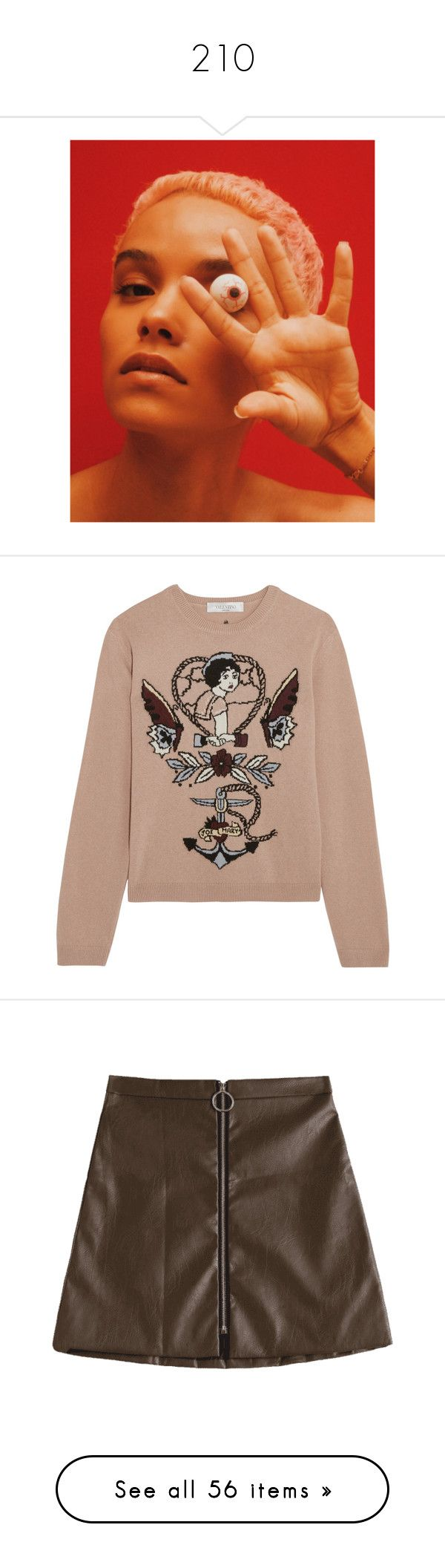 """""""210"""" by pocahaunted666 ❤ liked on Polyvore featuring tops, sweaters, valentino, intarsia, shirts, wool sweaters, colorful sweaters, woven top, multi colored sweater and multi color sweater"""