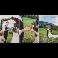 свадьба в стиле бохо во французских Альпах, церемония