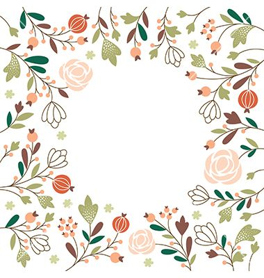 Floral greeting card vector wildflower frame - by Lenlis on VectorStock®