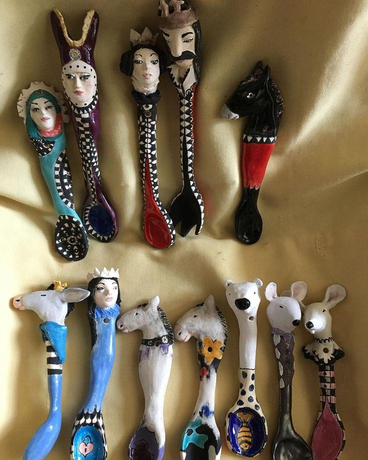Ready #ceramicspoons #ceramicsculpture #ceramics #ceramicdecor #ceramicdesign #storyteller #puppettheater #ceramicdolls #art #artoninstagram #instaart #whimsical #homeartstudio #Artist #fairytail