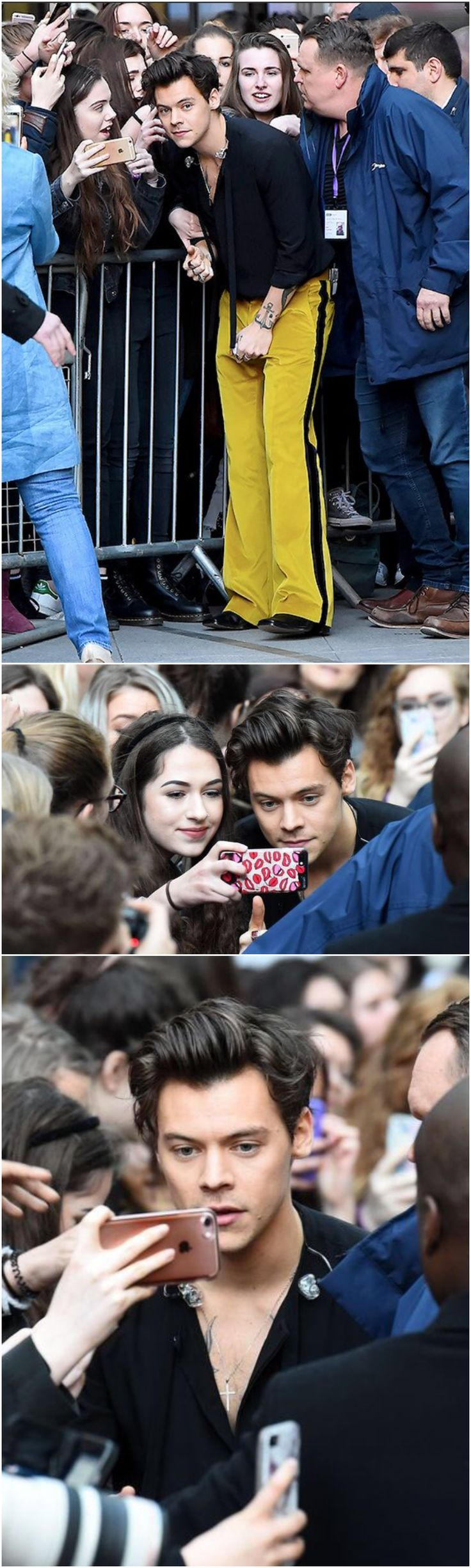 NEW | Harry meeting fans at The One Show today 13 May 2017. Follow rickysturn/harry-styles