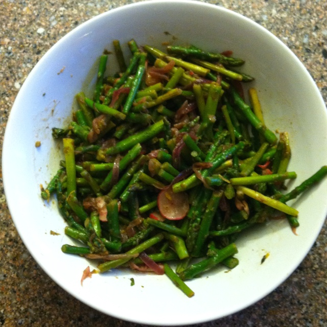Asparagus & Radish Sauté   Found this recipe in March 2012 All You magazine! So easy to make & my kids LOVED it!