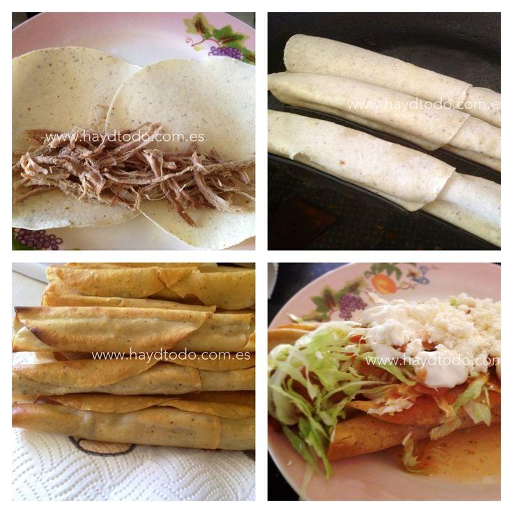 Flautas de res~Shredded beef fried Taquitos