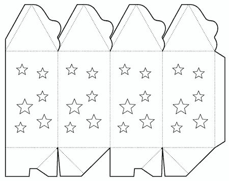 Fancy box template for Chinese lantern template printables