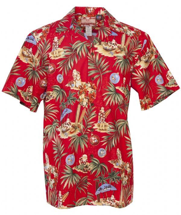 d0259c72 Santas Retreat Mens Hawaiian Aloha Shirt in Red in 2019   Aloha ...