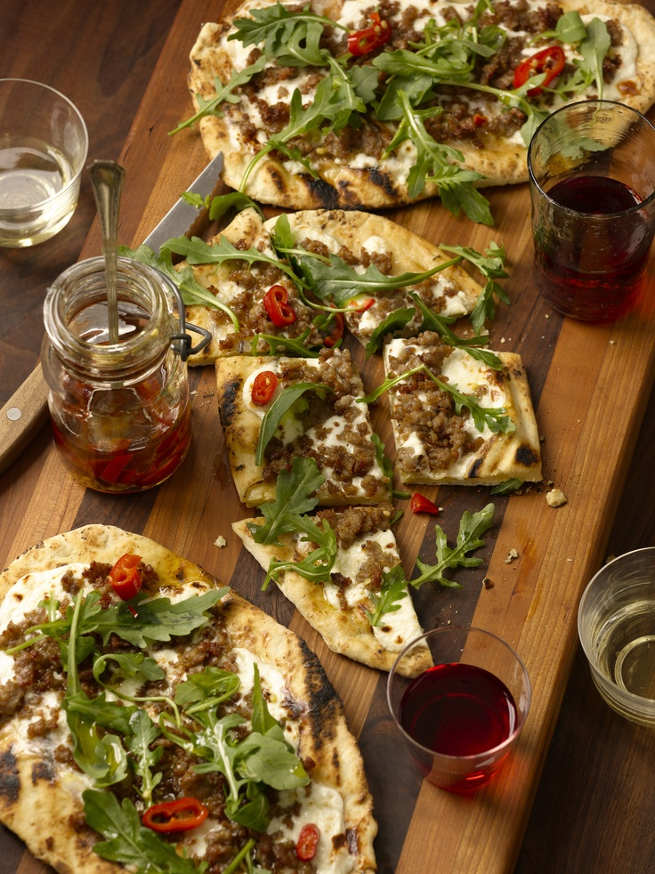 28 best food network addictions images on pinterest cooking grilled pizzeta with stracchino sausage arugula chili oil from anne burrells new forumfinder Image collections