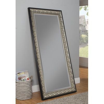 Sandberg Furniture Andorra Full Length Mirror Finish: Silver/ Black