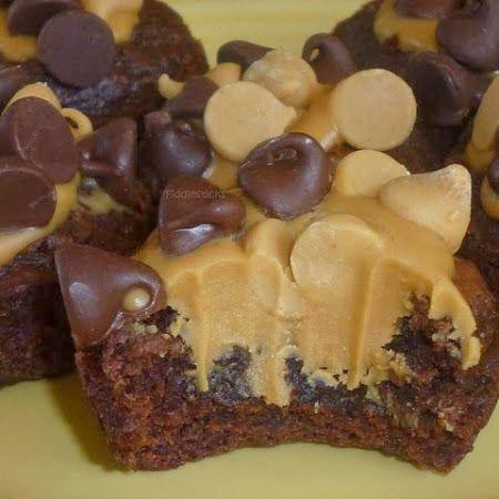 Peanut Butter Brownie Bites - Cocinando con Alena