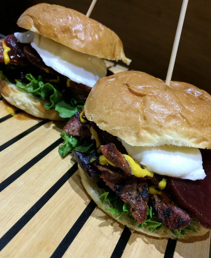 Lamb rump burgers.