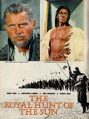 Robert Shaw & Christopher Plummer In The Royal Hunt Of The Sun Article & Picture