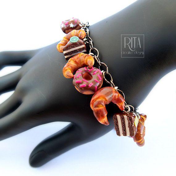 Sweet bracelet. mini sweet food in polymer by RITAcreativedesign
