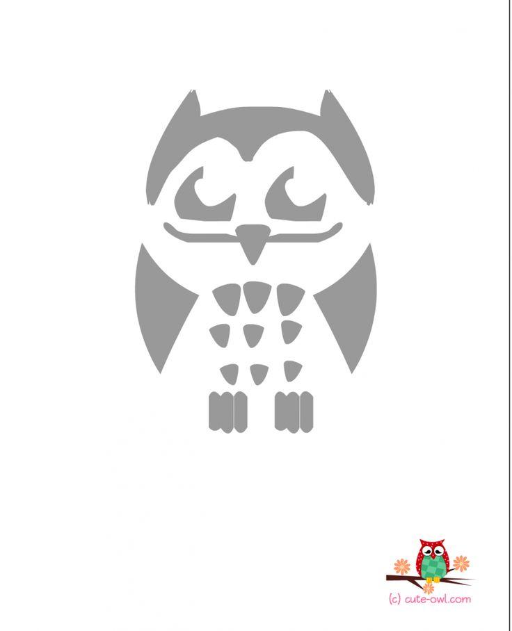 Best  Owl Stencil Ideas On   Owl Silhouette Tribal