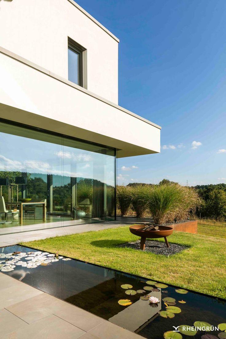 Terrassengestaltung Mit Wasserbecken Set - sourcecrave.com -