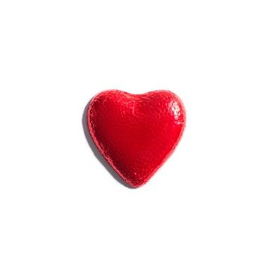 Give your heart this Valentine's Day - Medium Red Foiled Milk Chocolate Heart. #ValentinesDay #HaighsOnline