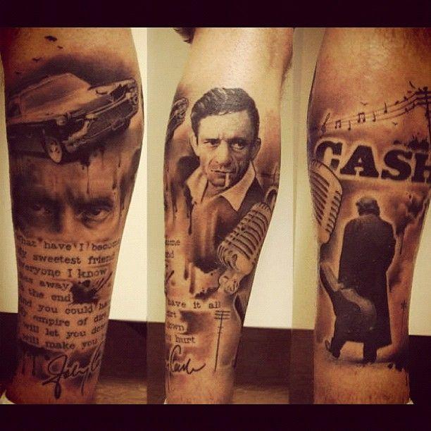 Awardwinning Johnny cash Tattoo 2010 .#johnnycash #rocknroll #fashion #inspiration #design #tattoos #art #ink #tatuering #tattoo #portrait #maninblack