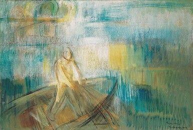 Egry József Balatoni halász című festménye