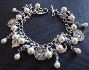 Pearls & Skulls Pirate charm bracelet (perfect for a pirate-themed wedding!) from Pirate Treasures.