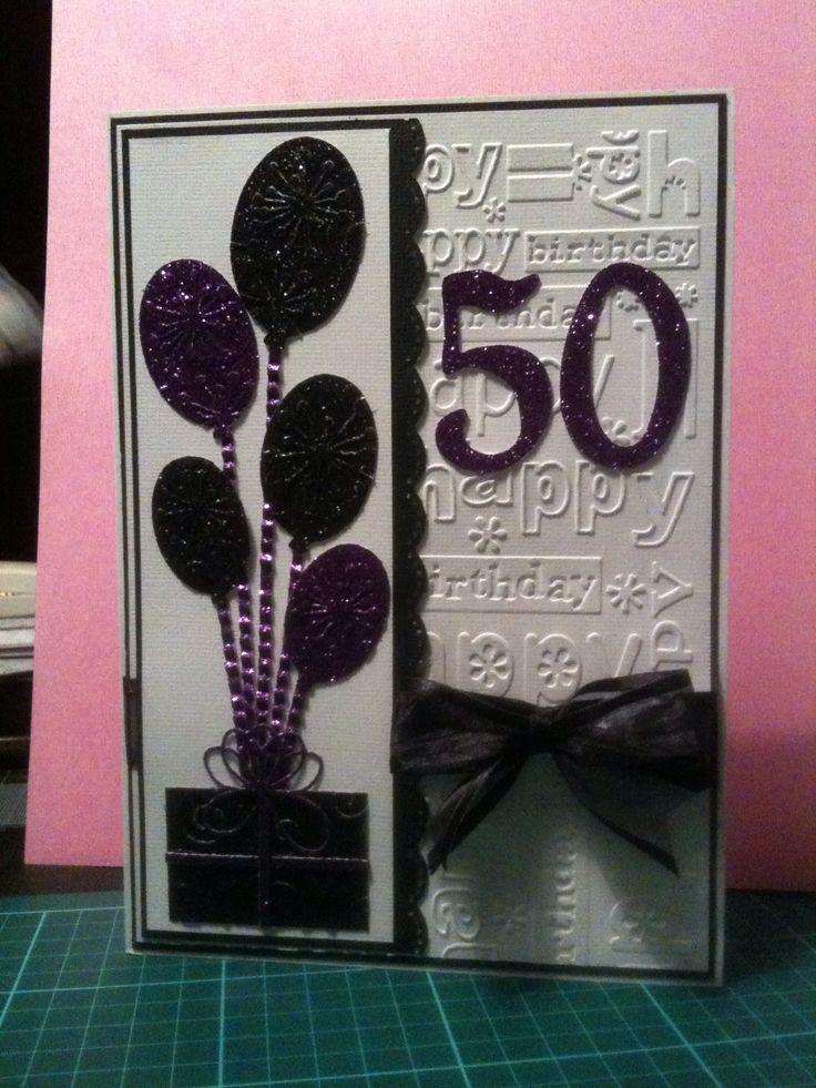 50th birthday card balloons