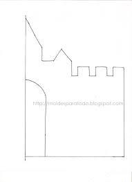 molde imprimible de castillo en carton corrugado para dulcero