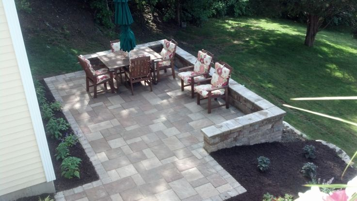 Raised Deck With Fire Pit