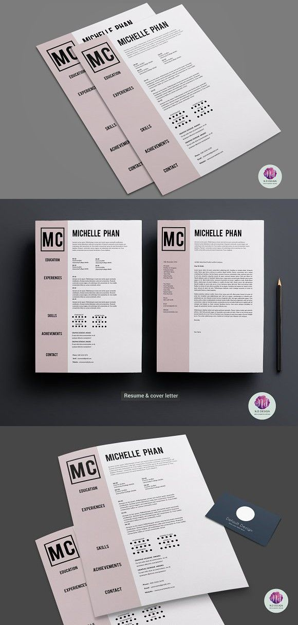CV template cover letter cvdesign resumdesign